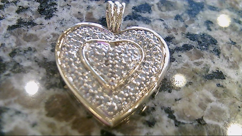 Gold-Multi-Diamond Pendant 91 Diamonds .91 Carat T.W. 10K Yellow Gold 6.1g