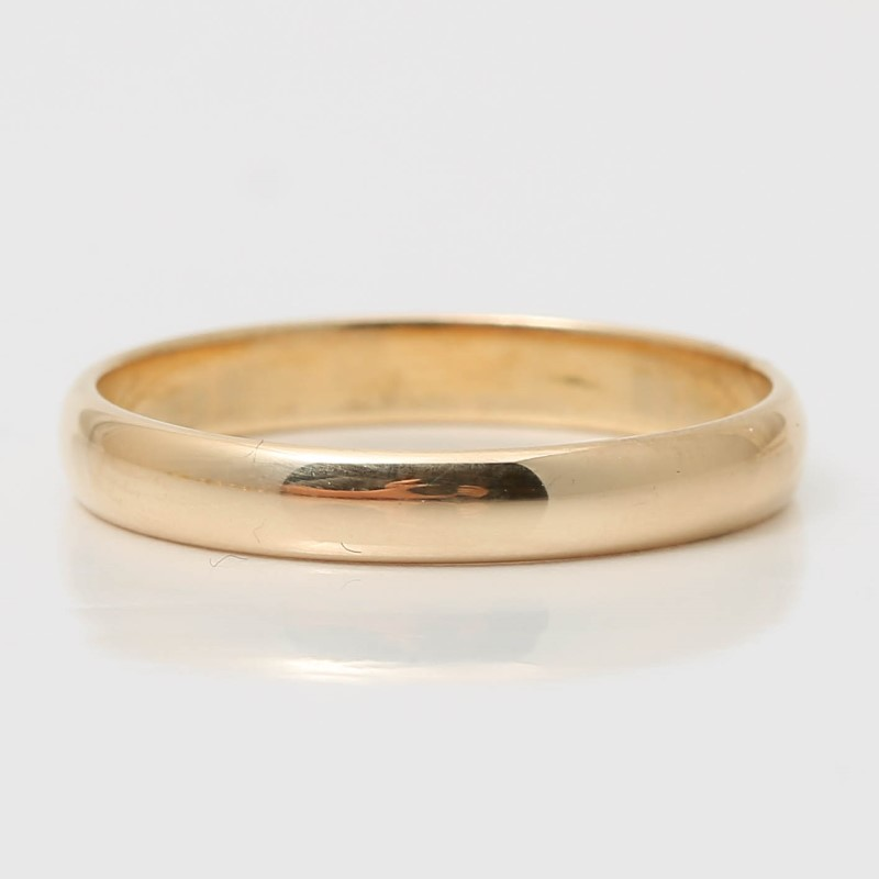 14K Yellow Gold Matte Comfort Fit Wedding Band Size 7