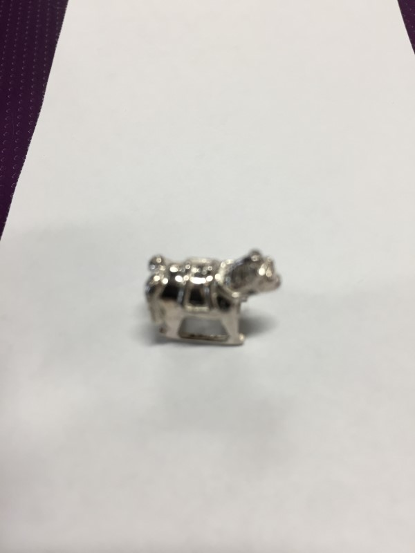 ROCKING HORSE SILVER CHARM 925 SILVER 2.37g