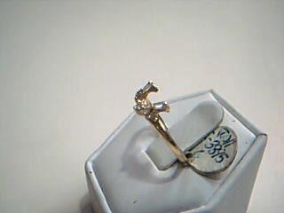 Lady's Gold-Diamond Ring Guard 7 Diamonds .35 Carat T.W. 14K Yellow Gold 2.1g