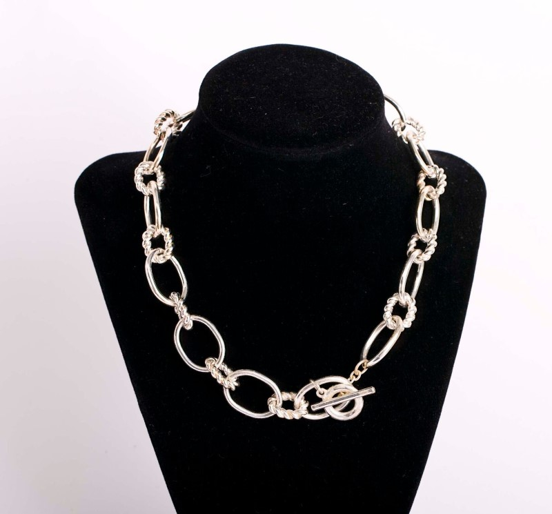 "18"" Necklace STNSV Color Silver 75g"