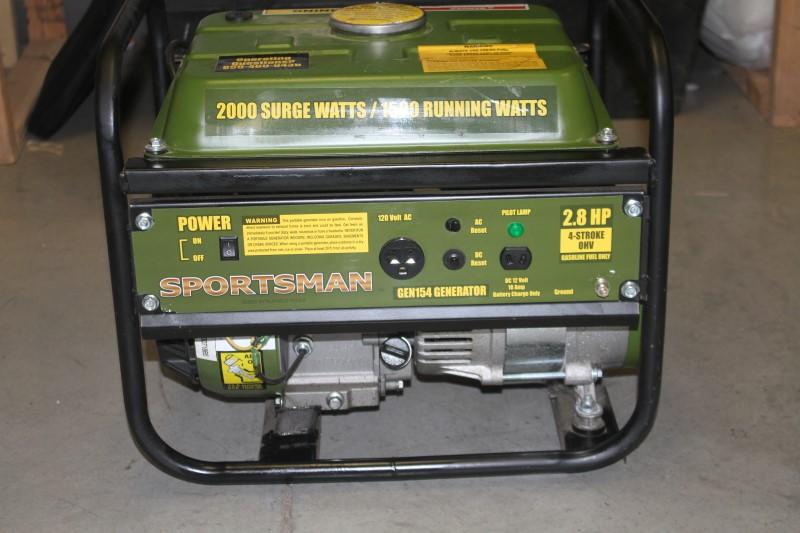 Sportsman 2,000 Watt Gasoline Generator with Recoil Start, Black