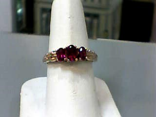 Synthetic Ruby Lady's Stone Ring 14K Rose Gold 2.1dwt Size:8.8