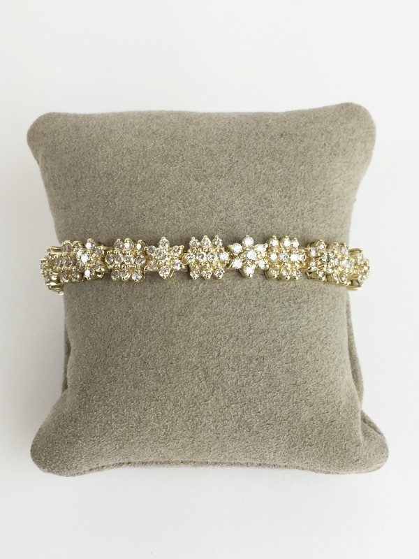 Diamond Bracelet 6.36 CTW 14K Yellow Gold 24.52g
