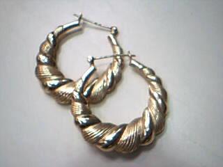 Gold Earrings 14K Yellow Gold 3.8g