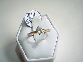 Lady's Diamond Solitaire Ring .33 CT. 14K Yellow Gold 1.7g Size:6.5