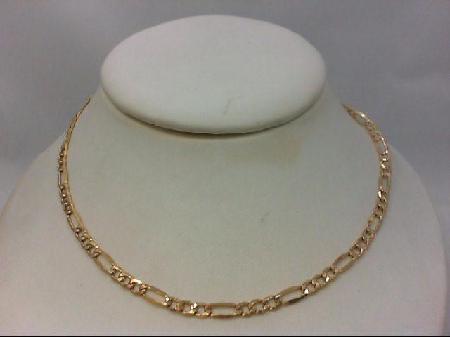 """20"""" Gold Figaro Chain 10K Yellow Gold 2.9g"""