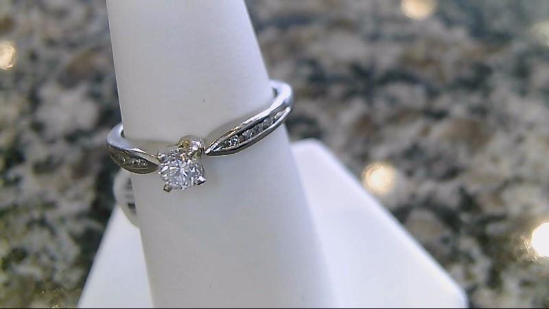 Lady's Platinum-Diamond Ring Guard 9 Diamonds .28 Carat T.W. 950 Platinum 4g