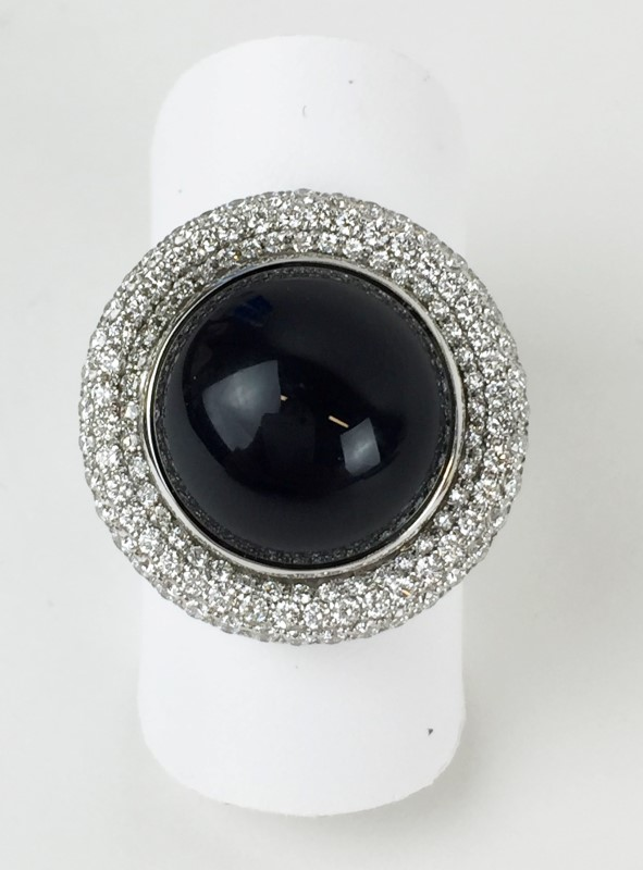Sapphire & Diamond Ring 100 Diamonds 1.00 Carat T.W.
