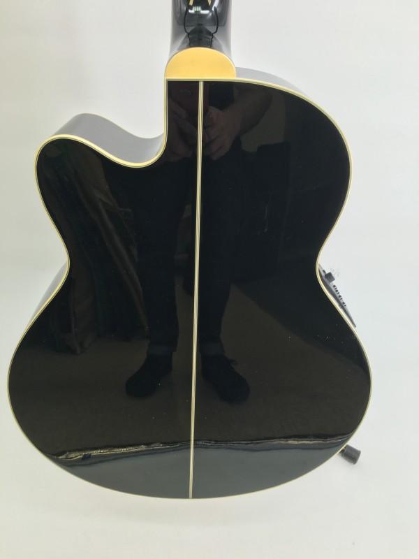 IBANEZ AEB10E-BK BLACK ACOUSTIC- ELECTRIC BASS GUITAR W CASE`