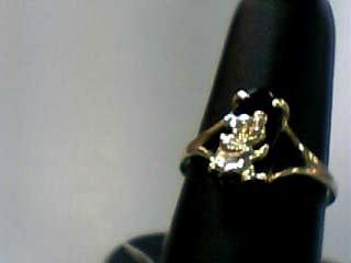 Onyx Lady's Stone Ring 10K Yellow Gold 1.1dwt Size:7