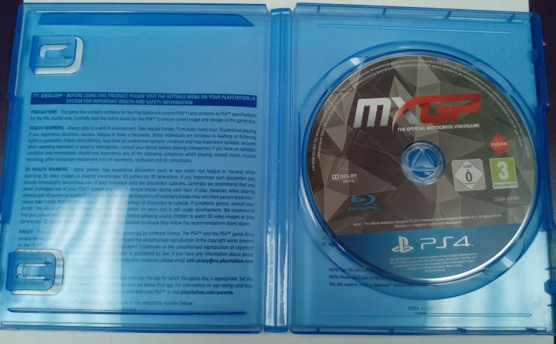 SONY PLAYSTATION 3 GAME MXGP THE OFFICIAL MOTORCROSS VIDEOGAME