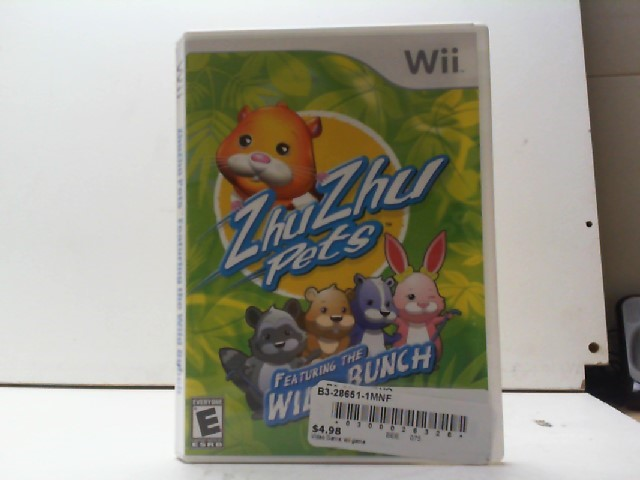NINTENDO Nintendo Wii Game ZHU ZHU PETS FEATURING THE WILD BUNCH