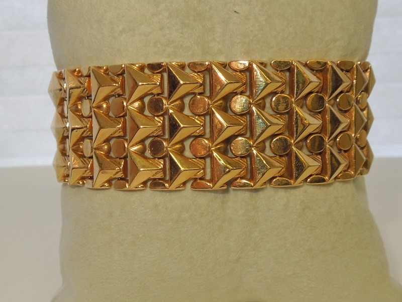 Gold Fashion Bracelet 18K Yellow Gold 36.2g