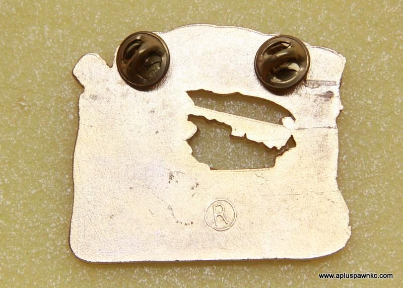 """1989 MISSOURI PIN TRADER PIN 2-3/8"""" X 2"""" ENAMEL"""
