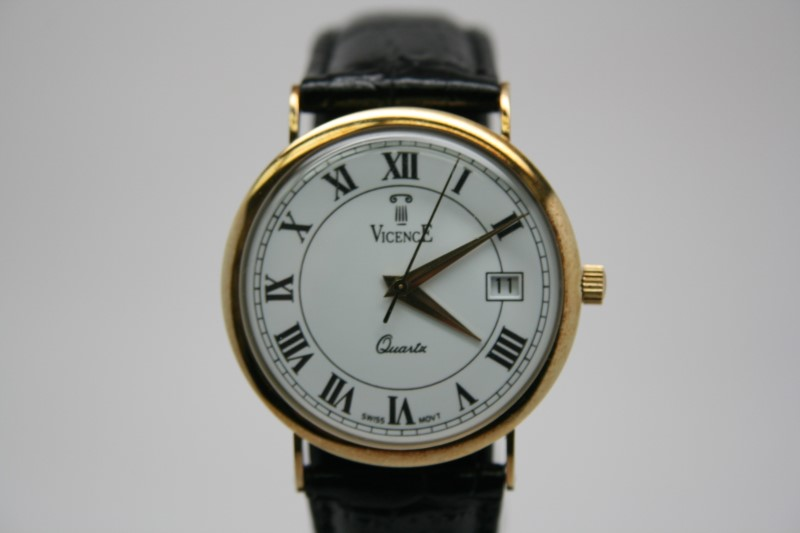 VICENCE WATCH  MILOR 14KT GOLD PLATED