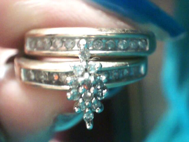 Lady's Diamond Wedding Set 31 Diamonds .250 Carat T.W. 10K Yellow Gold 3.1dwt