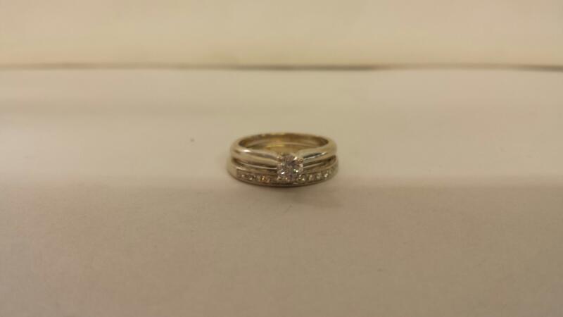 Lds 10K-W/G 16-Rd Diamond Wedding Set
