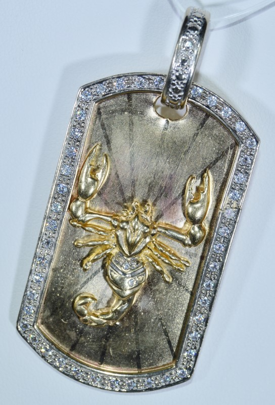 14k Yellow Gold Skorpion Pendant