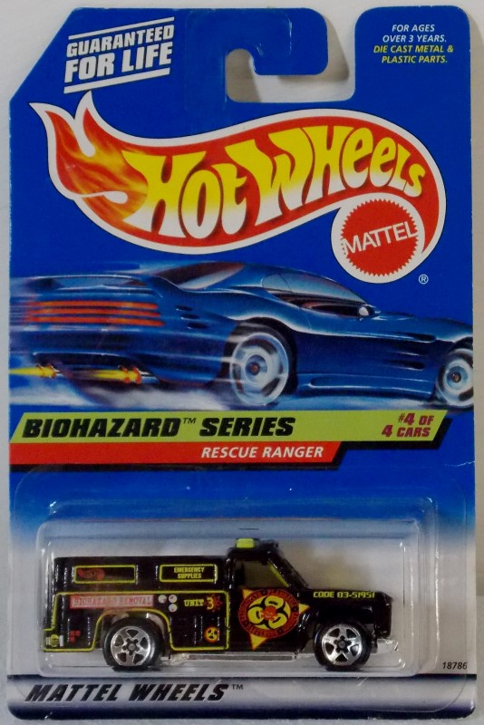 MATTEL HOT WHEELS 1998 BIOHAZARD SERIES COMPLETE SET