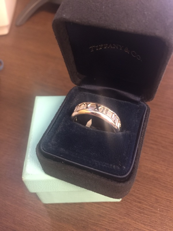 Tiffany & Co. Gent's Gold Wedding Band 18K White Gold 11.8g Size:9