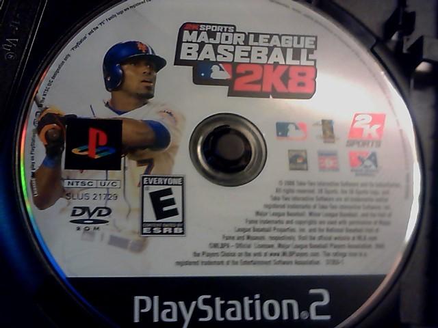 SONY playstation 2 2ksports major league baseball 2k8