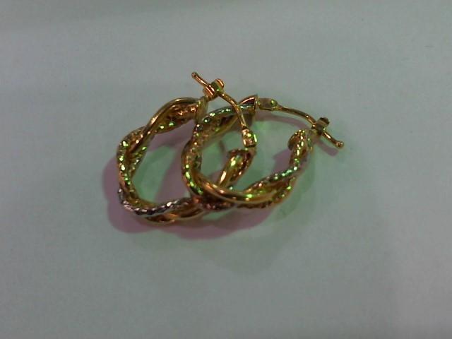 Gold Earrings 14K Yellow Gold 2.1g