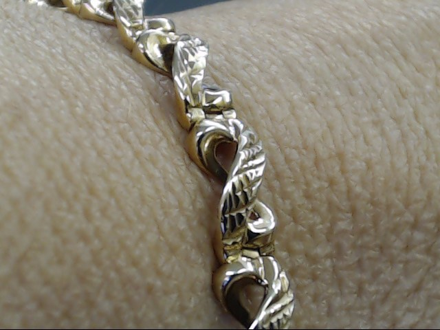 VINTAGE INFINITY LINK DESIGN BRACELET REAL 10K YELLOW GOLD 12g 7.25""