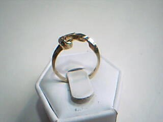 Lady's Gold-Diamond Ring Guard 5 Diamonds .15 Carat T.W. 14K Yellow Gold 2.6g