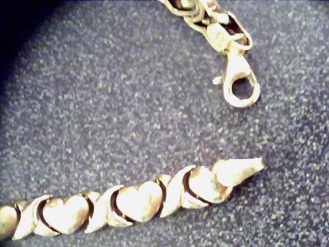 Gold Link Bracelet 10K Yellow Gold 2.6dwt