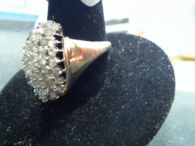 Lady's Diamond Fashion Ring 42 Diamonds .42 Carat T.W. 10K Yellow Gold 4.9g