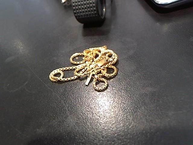 "18"" Gold Box Chain 14K Yellow Gold 5.8g"