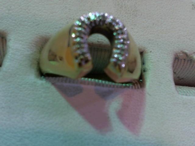 Gent's Diamond Fashion Ring 7 Diamonds .035 Carat T.W. 10K Yellow Gold 5.1g