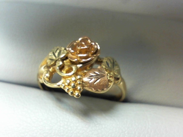Lady's Gold Ring 14K Tri-color Gold 2.7g