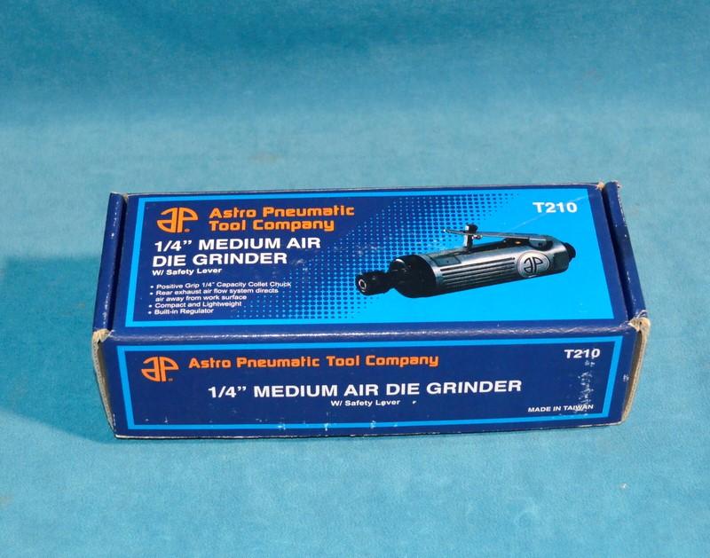 """ASTRO PNEUMATIC TOOLS T210 1/4"""" MEDIUM AIR DIE GRINDER"""