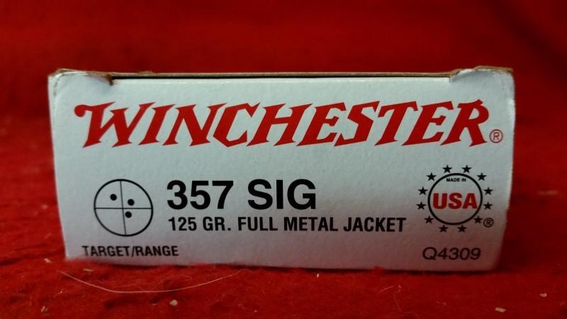 Winchester 357 Sig 125gr FMJ