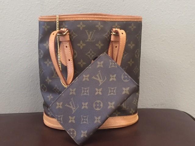 LOUIS VUITTON Handbag MONOGRAM BUCKET PM W/POUCH