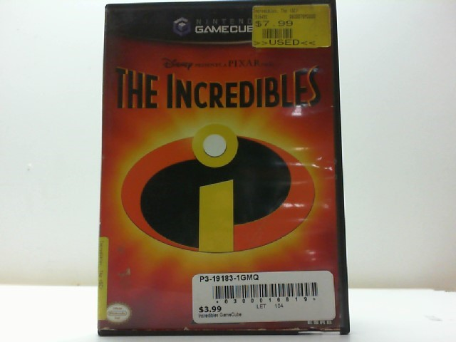 NINTENDO Nintendo GameCube Game DISNEYS THE INCREDIBLES GAMECUBE