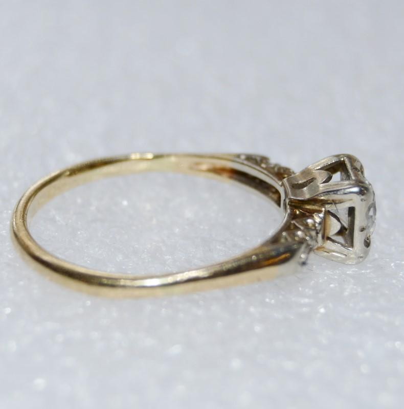 Lady's Diamond Fashion Ring 5 Diamonds .58 Carat T.W. 14K Yellow Gold 2.9g