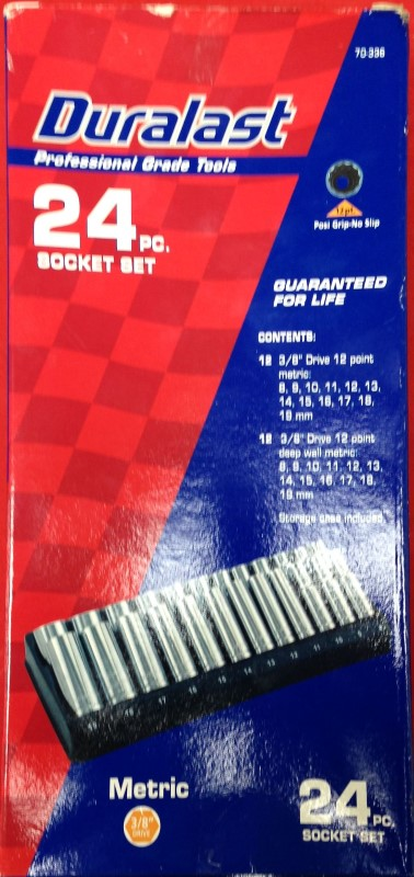 DURALAST Sockets/Ratchet SOCKET SET