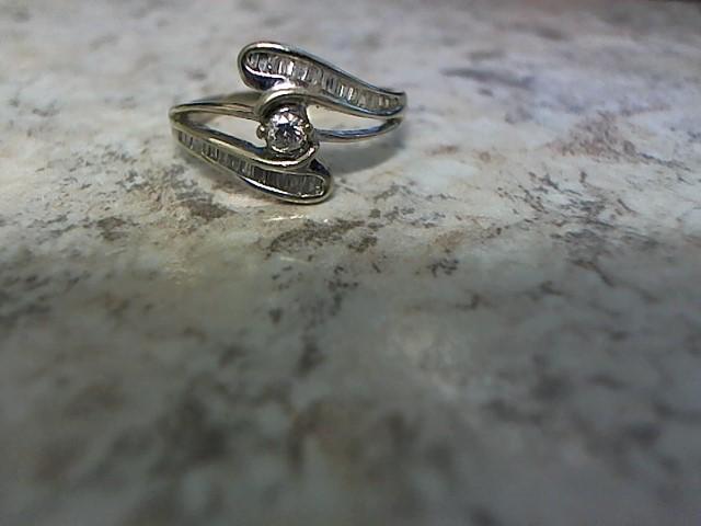 Lady's Diamond Fashion Ring 37 Diamonds .45 Carat T.W. 10K White Gold 2.9g