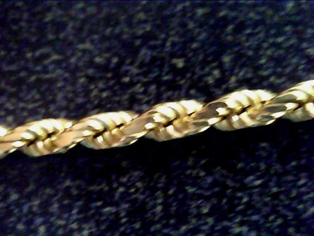 """20"""" 14KT Gold Rope Chain ROPE CHAIN 14K Yellow Gold 9dwt"""