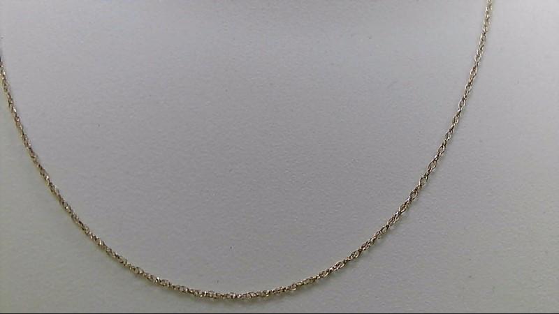 "18"" Gold Fine Chain 10K Yellow Gold 0.5g"
