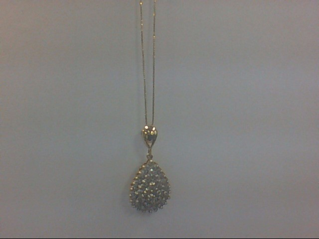Gold-Multi-Diamond Pendant 50 Diamonds .50 Carat T.W. 10K Yellow Gold 3.6g