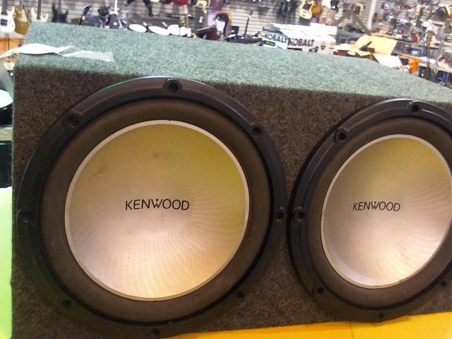 """KENWOOD Car Speakers/Speaker System SUBWOOFER 2X12"""""""