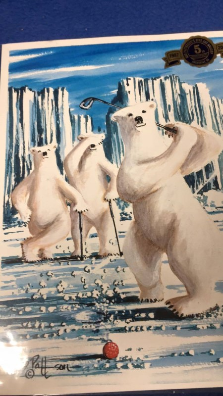 THE POLAR BEARS GOLFING BY BOB PATTERSON