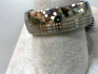 Gent's Wedding Band Silver Titanium 3.1dwt