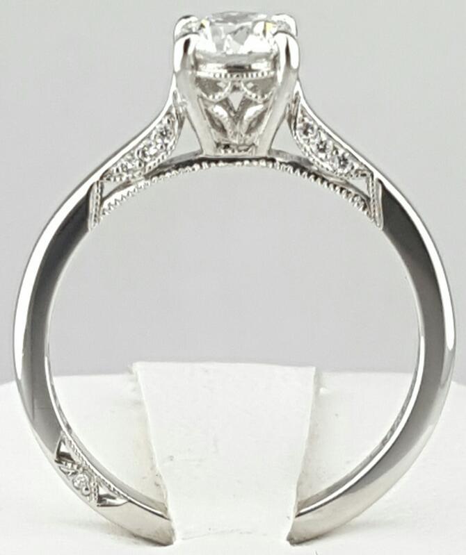 Lady's Tacori Platinum 950 Diamond Egagement Ring 15 Dia. 0.80CTTW