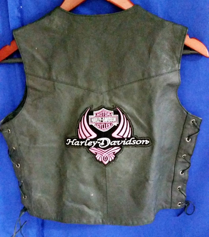 BIKERS CLUB HARLEY DAVIDSON LEATHER VEST - WOMEN'S