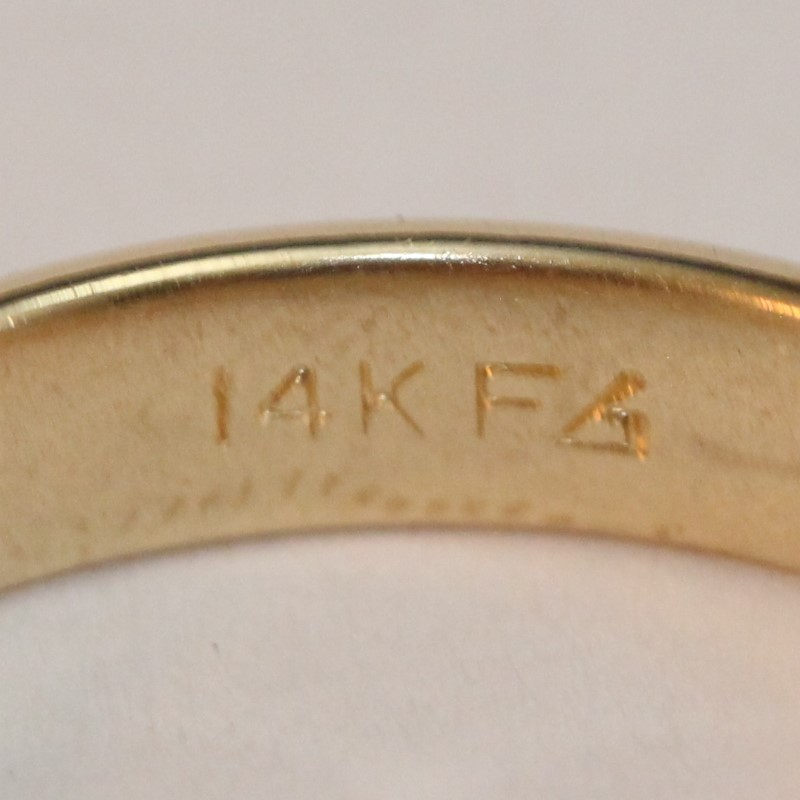 Gent's Gold Wedding Band 14K Yellow Gold 5.6g Size:10
